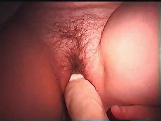 My wifes dildo - Big dildo in my wifes slippery pussy