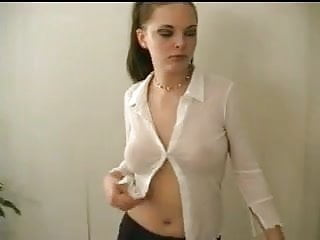 Teen blouse girls sexy Babe in a sheer blouse masturbates and squirts