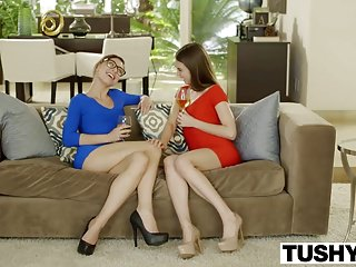 Threesome w4mw Tushy riley reid first double penetration