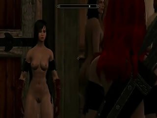 Naked slave women cartoons Skyrim special edition. naked girls compilation 2