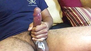Big cock cums on big balls