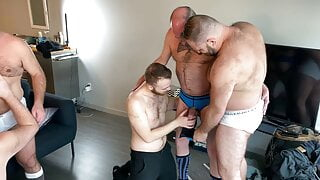 Stepdaddy Orgy for cute Otter