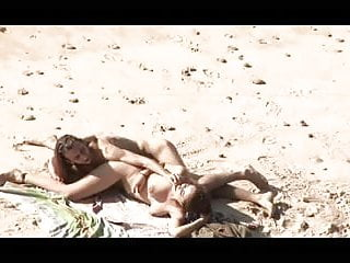 Enjoying sex again Voyeur on public beach. hot young couple sex again
