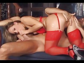 Garter stocking sex Tight blonde sex in stockings a garter and heels