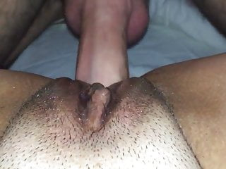 Pretty pussy gurl Wifes pretty pussy covered in my cum