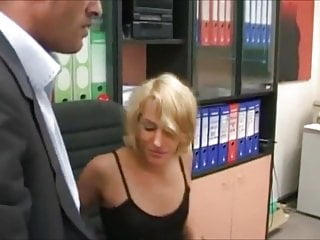 Cumshots of large cocks - Euro scene 32 beautiful blonde with 2 large cocks