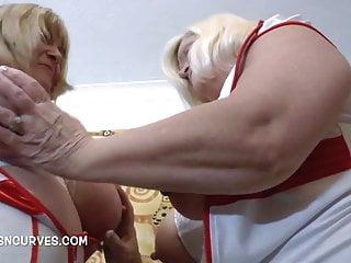 Vintage nursing uniforms 1960 Kinky mature nurses with huge tits try on new uniforms