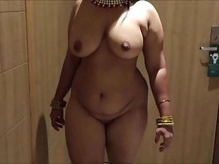 Walking nude at night Desi wife walking nude