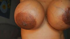 Adult star Gloria Lamour with huge fake titties and filthy s