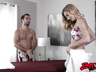 Something protruding from vagina Sexy alexa grace wants something special from her masseur