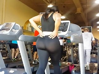 Nude video on treadmill Jom: extremely fat ass on treadmill slow mo
