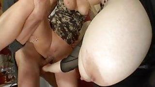 Big Titty Chick Sucks MILFS Cream from Creamidick