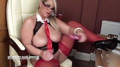 Dirty talking busty secretary
