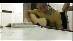 Guitar teacher fucking his MILF student