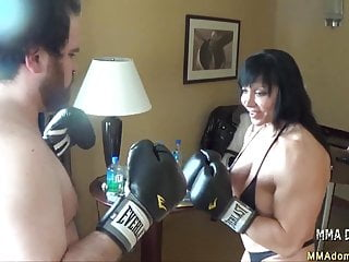 Mixed girls huge tits video - Mixed boxing- muscle hot girl beatdowns