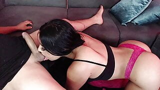 Girl gets fucked on webcam with huge facial