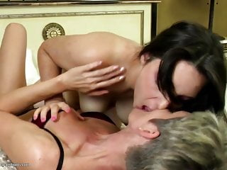 Lesbian tit lickers videos Old and young amateur lesbian pussy lickers