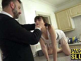 Sexually strip woman - Uk submissive woman dominated sexually by rough strong man