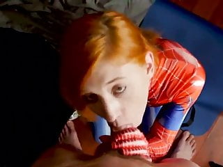 Erotic spider-man Spider girl red swallows