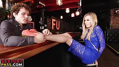 Blonde beauty Alexa gets her love tube drilled hard and fast