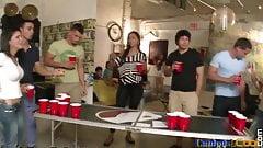 Partying college sluts riding amateur dicks