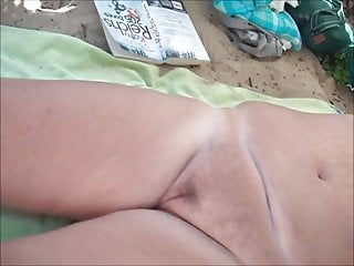 My pussy on beach Mature licking pussy on beach