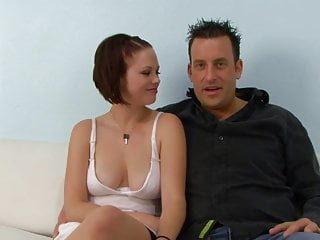 Masturbate in front of her - Redhead slut fucks a black guy in front of her husband