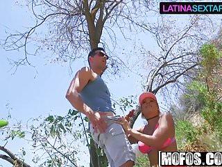 Nude hitch hiker Luna star - latina hiker makes outdoor sextape - latina sex