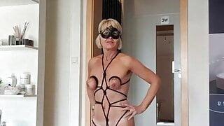 Julie's erotic dress presentation