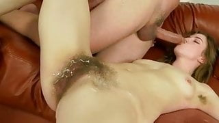 hairy woman with glasses gets fucked WF