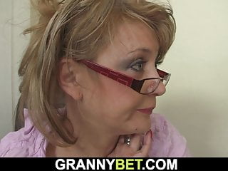 Hot Old Mature In Stockings Rides His Big Cock