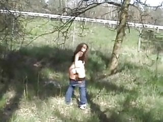 Business blowjob - Girlfriend flashes and gives blowjob next to busy highway