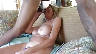 INTERRACIAL fuck couple shares a BBC