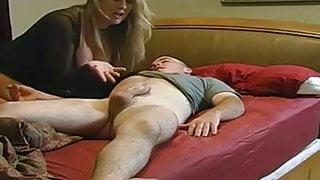 StepMom with big boobs & guy