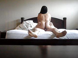 Brazilian shemale backside Asian wife riding cock backside big ass bbw