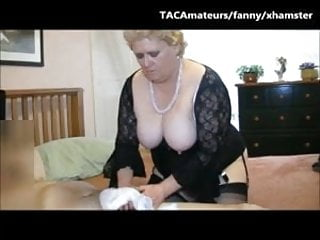 Grannies handjobs Giving sissy boy a pantie handjob, suck and good hard fuck