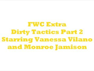 Image caption script porn Dirty tactics vanessa vs monroe scripted female wrestling