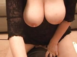 Mounted blowjobs Busty wife mounts a sybian for hubby