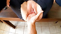 Fisting and squirting, destroying pussy for  stepdaddy!!!