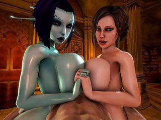 Cumshots in 3d - Soria and trishka double tittyfuck 3d
