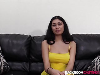 Effects of eating cum - Babe melania rides before eating cum in 1st anal casting