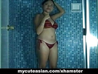 Naked pics of my gf - My asian gf nake in shower