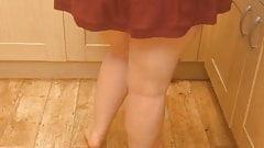 Step sister up skirt