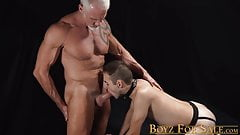 Submissive twink has his asshole explored bareback style