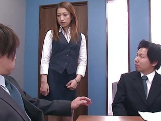 Fuck hot t Businessmen cant resist hot secretary and they gang bang her