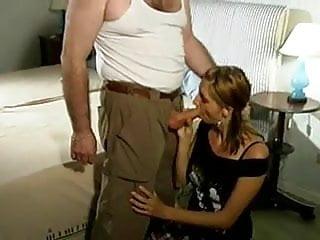 Splitting penis Couple split by old man