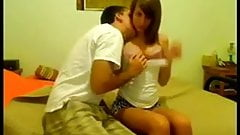 Really Hot Brunette Teens First Home Sex Video