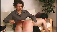 female spanking male and fingers him
