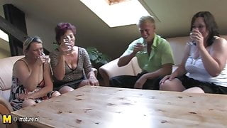 Crazy group sex mature stepmoms fuck young boy