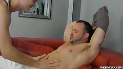 Skinny red haired twink pounding muscular homos tight butt